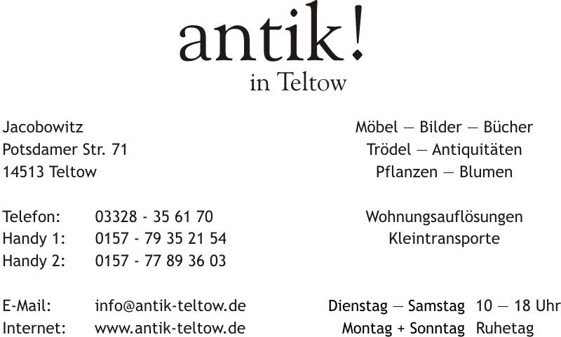 Antik In Teltow Potsdamer Str 69